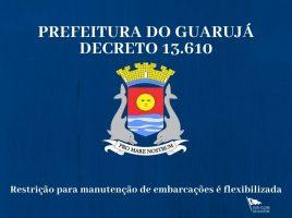 Guarujá flexibiliza restrição para manutenção de barcos