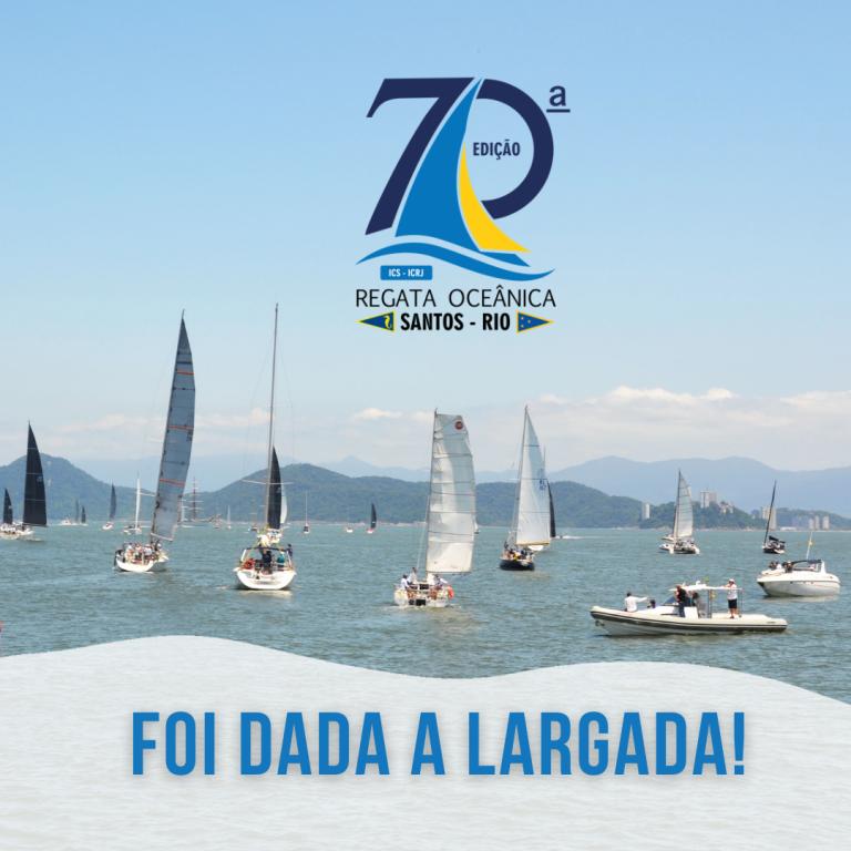 Regata Santos-Rio: 68 veleiros disputam a 70ª edição