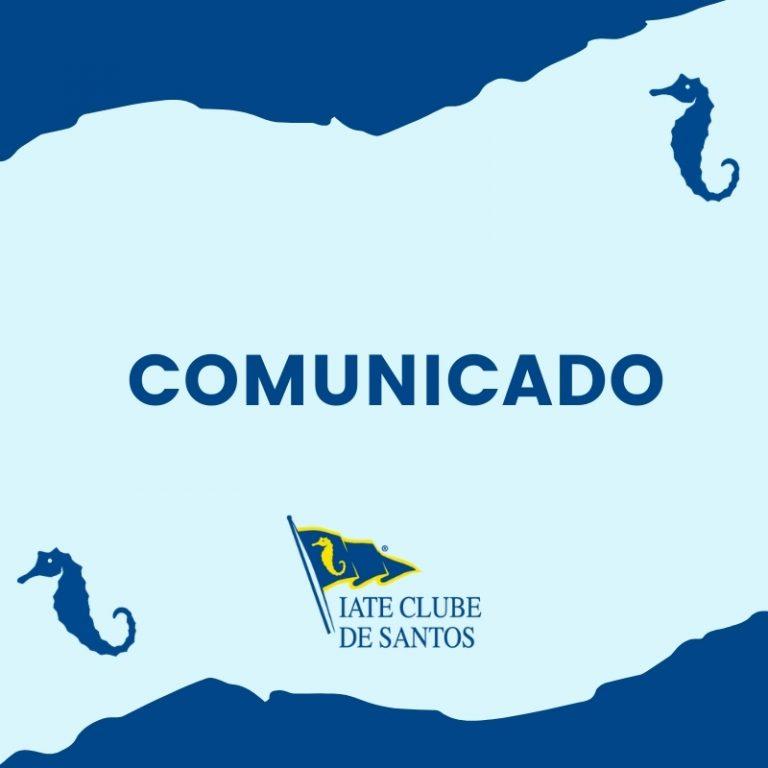 Comunicado: Iate Clube de Santos ajusta funcionamento da sede Guarujá