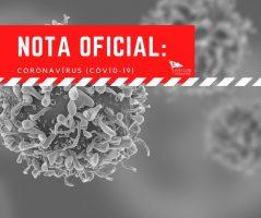 NOTA OFICIAL: Coronavírus