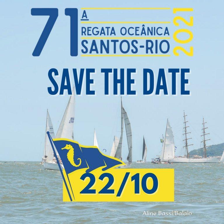 71ª Regata Santos-Rio acontece em 22 de outubro